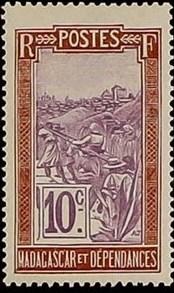 Madagascar 1925 Transportation by Sedan Chair