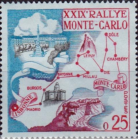 Monaco 1960 29th Monte Carlo Automobile Rally