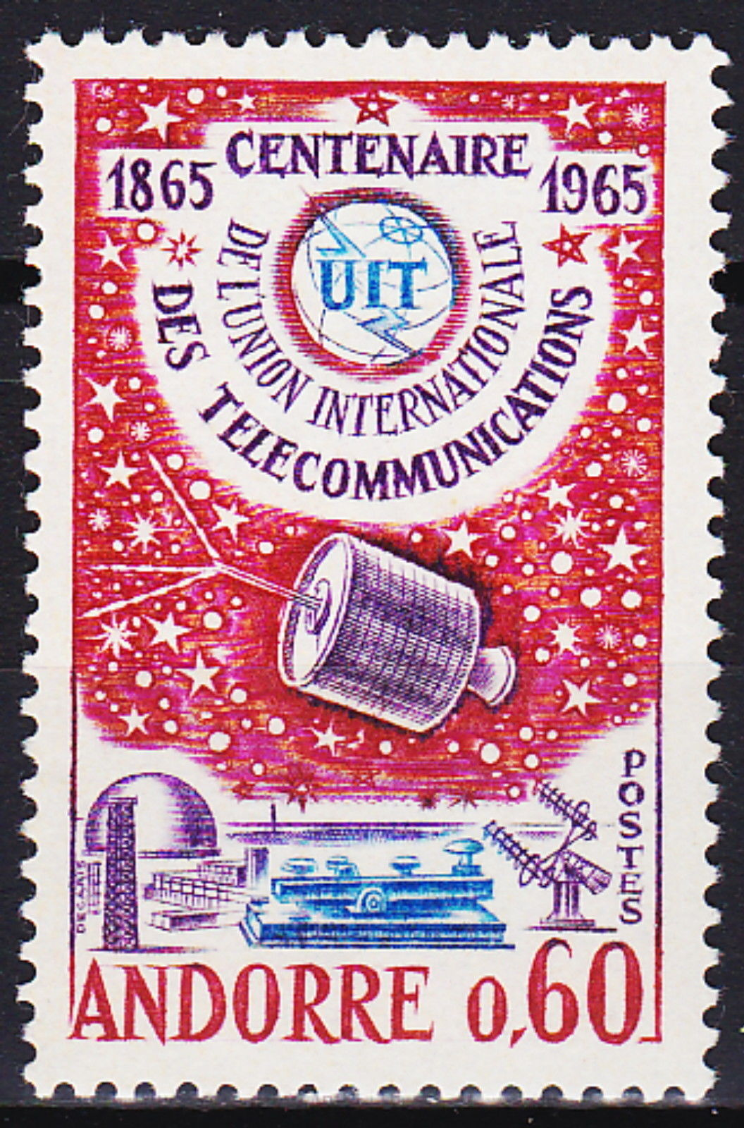 Andorra-French 1965 ITU Centenary