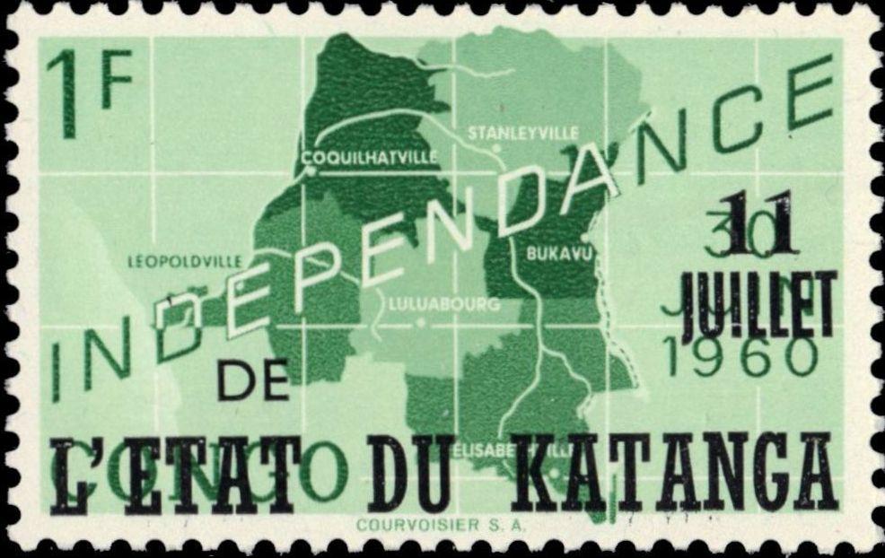 Katanga 1960 Postage Stamps from Congo Overprinted c.jpg
