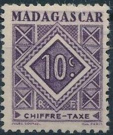 Madagascar 1947 Postage Due Stamps