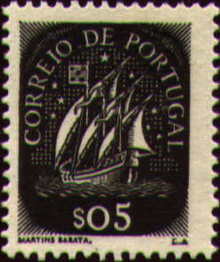 Portugal 1943 Portuguese Caravel (1st Issue)