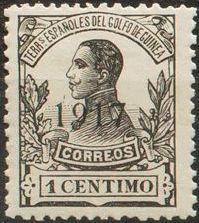 Spanish Guinea 1917 Alfonso XIII Overprinted