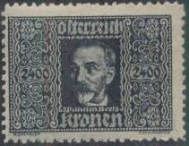 Austria 1922 Air Post Stamps (Common Kestrel and Wilhelm Kress) 1st Group e.jpg