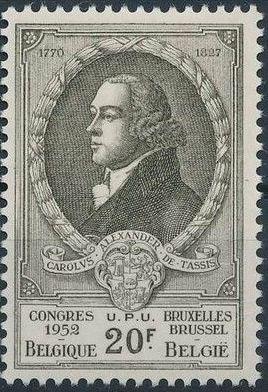 Belgium 1952 World Post Congress k.jpg