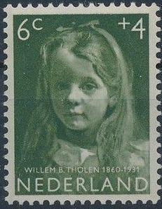Netherlands 1957 Child Welfare Surtax - Girls' Portraits b.jpg