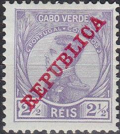 Cape Verde 1912 D. Manuel II Overprinted REPUBLICA
