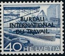 Switzerland 1950 Landscapes and Technology Official Stamps for The International Labor Bureau h.jpg