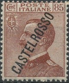 "Italy (Aegean Islands)-Castelrosso 1924 Definitives of Italy - Overprinted ""CASTELROSSO"" i.jpg"