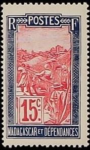 Madagascar 1928 Transportation by Sedan Chair