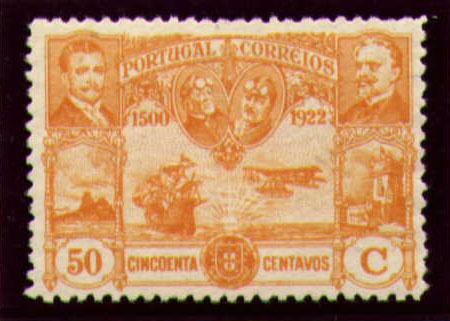 Portugal 1923 First flight Lisbon Brazil l.jpg