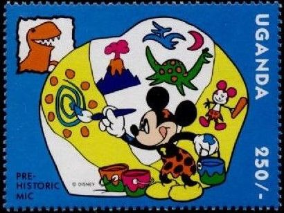Uganda 1993 Mickey Mouse and Friends with Dinosaurs d.jpg