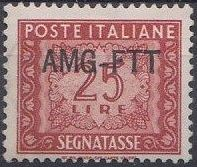Trieste-Zone A 1954 Postage Due Stamps of Italy 1947-1954 Overprinted b.jpg