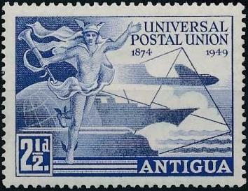 Antigua 1949 75th Anniversary of Universal Postal Union UPU
