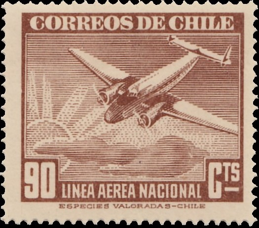 Chile 1941 Air Post Stamps (Type 1941) g.jpg