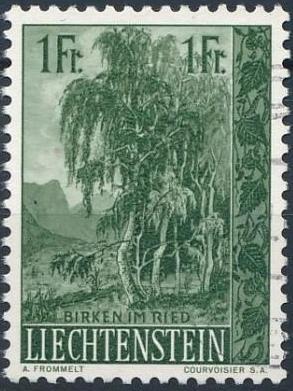 Liechtenstein 1957 Native Trees and Shrubs (1st Group) c.jpg