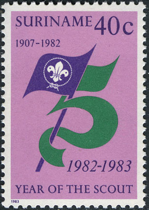 Surinam 1983 75 Years Of Scouting