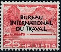 Switzerland 1950 Landscapes and Technology Official Stamps for The International Labor Bureau e.jpg