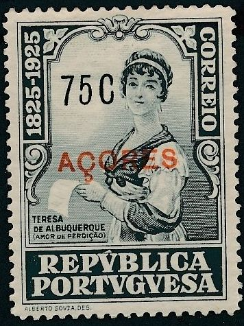 Azores 1925 Birth Centenary of Camilo Castelo Branco q.jpg
