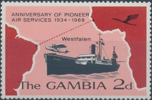 Gambia 1969 35th Anniversary of Pioneer Air Services