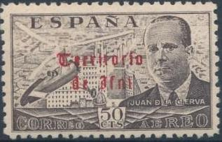 Ifni 1949 Juan de la Cierva - Air Post Stamps b.jpg