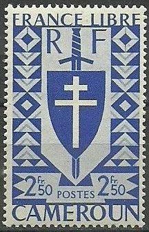 Cameroon 1941 Lorraine Cross and Joan of Arc Shield j.jpg
