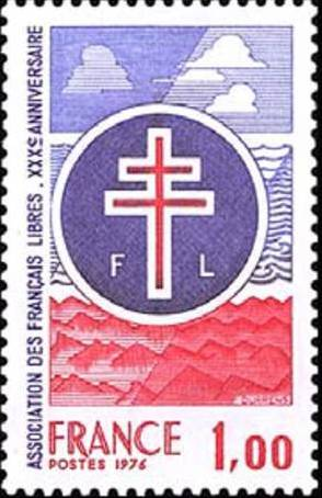 France 1976 30th Anniversary of the Association of Free French