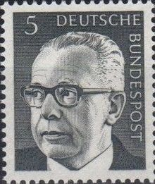 Germany, Federal Republic 1970 President Gustav Heinemann (1st Group)