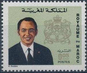 Morocco 1973 King Hassan II & Coat of Arms c.jpg