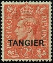 """British Offices in Tangier 1949 King George VI Overprinted """"TANGIER"""""""