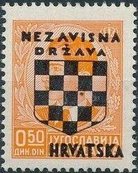 Croatia 1941 Peter II of Yugoslavia Overprinted in Black b.jpg