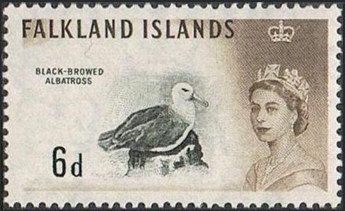 Falkland Islands 1960 Queen Elizabeth II and Birds h.jpg