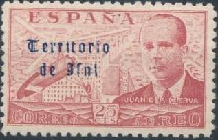 Ifni 1949 Juan de la Cierva - Air Post Stamps a.jpg