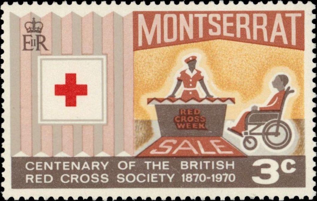 Montserrat 1970 Centenary of British Red Cross Society