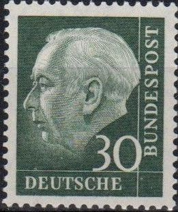 Germany, Federal Republic 1957 Pres. Theodor Heuss