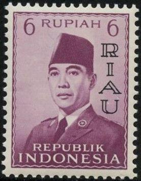 Indonesia-Riau 1960 President Sukarno - Definitives e.jpg