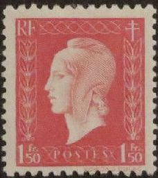 France 1944 Marianne de Dulac (1st Issue)
