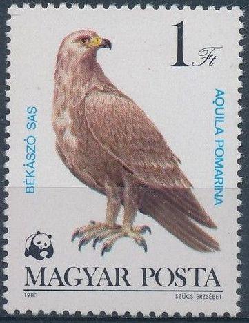 Hungary 1983 WWF - Birds of Prey