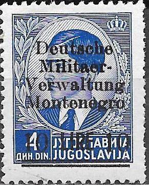 Montenegro 1943 Yugoslavia Stamps Surcharged under German Occupation h.jpg