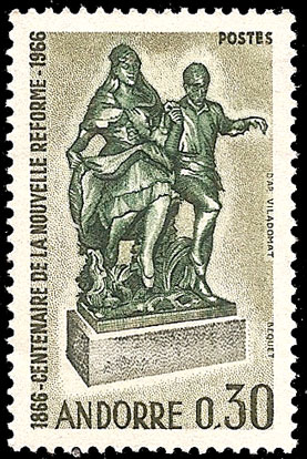 Andorra-French 1967 100th Anniversary of the New State Reform