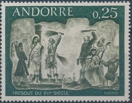 Andorra-French 1968 Frescoes