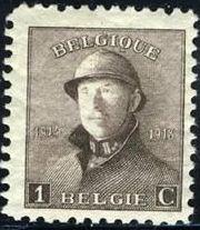 Belgium 1919 King Albert in Trench Helmet