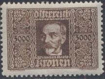 Austria 1923 Air Post Stamps (Common Kestrel and Wilhelm Kress) 2nd Group a.jpg