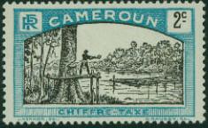 Cameroon 1925 Man Felling Tree