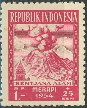 Indonesia 1954 Surtax for Victims of the Merapi Volcano Eruption e.jpg