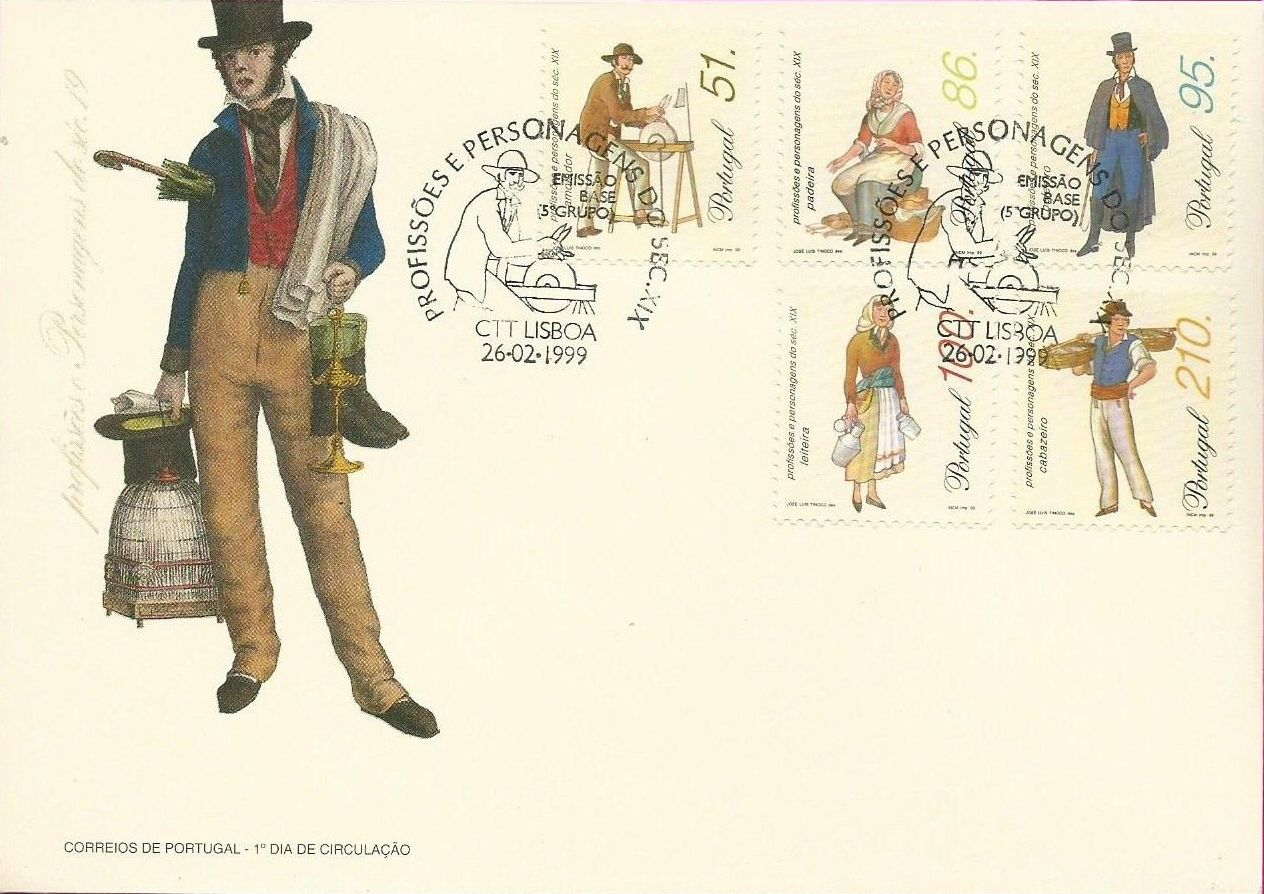 Portugal 1999 Professions and Characters from XIX Century (5th Group)
