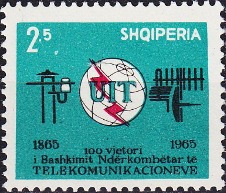 Albania 1965 Centenary of the ITU