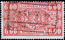 Belgium 1941 Railway Stamps (Numeral in Rectangle IV) p.jpg