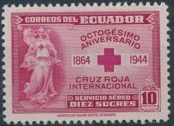 Ecuador 1944 80th Anniversary of the International Red Cross - Air Post Stamps d.jpg