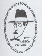 Portugal 1985 Fiftieth Anniversary of the Death of Poet Fernando Pessoa-Philatelic Exhibition PMa